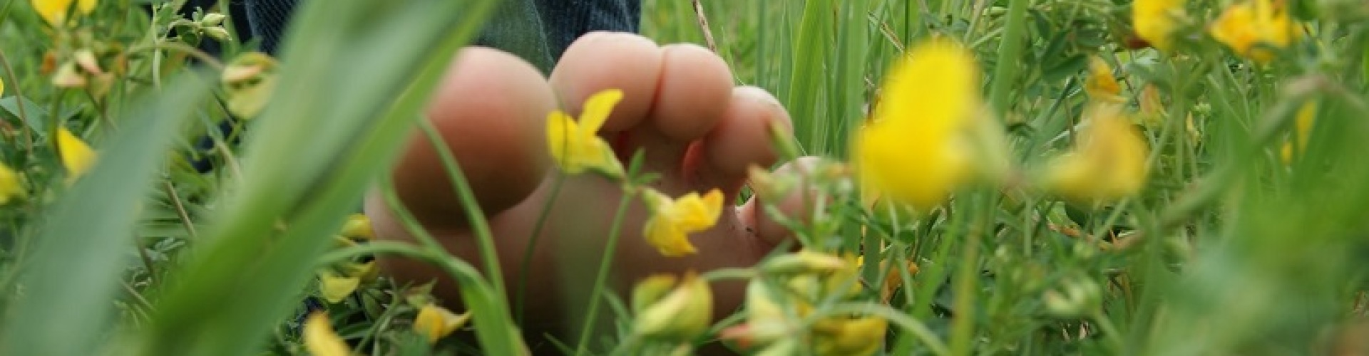 Voeten in het gras