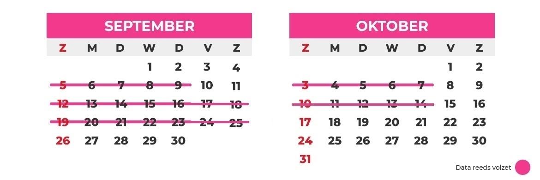 oktober september calendar