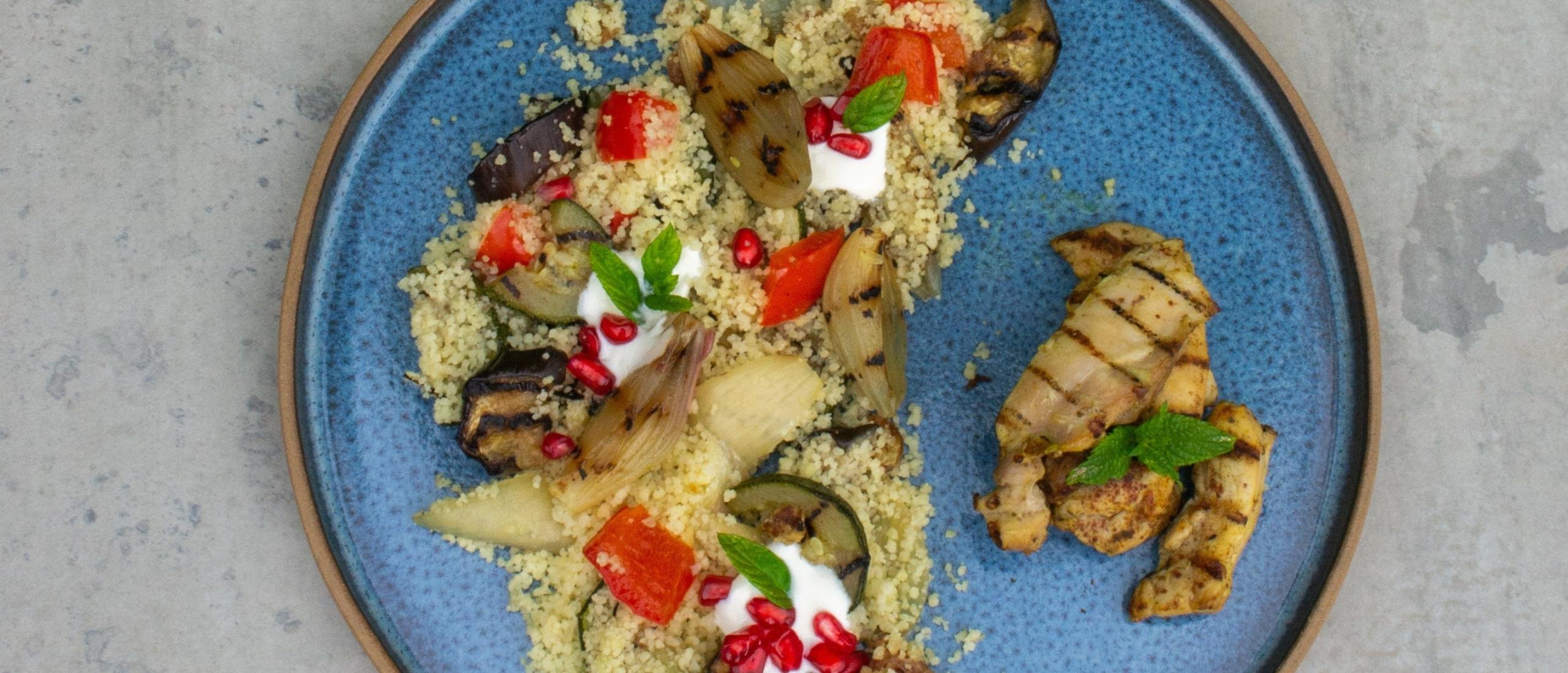 Couscous met groenten en kip
