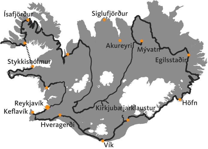 21 dagen 4x4 rondreis  rond en door IJsland
