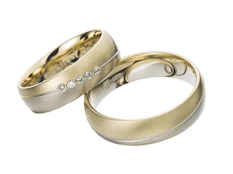geel goud en wit gouden trouwring