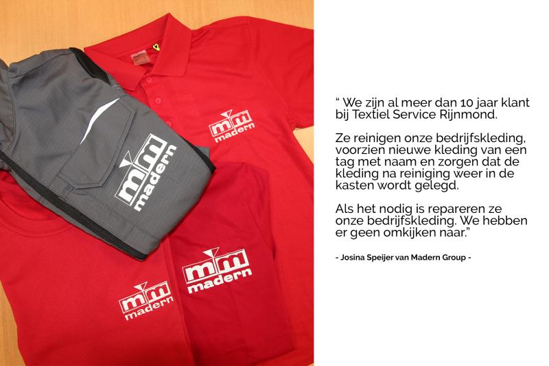 Bedrijfskleding reinigen doe je bij Textiel Services Rijnmond