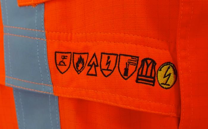 borduren van multinormen werkkleding