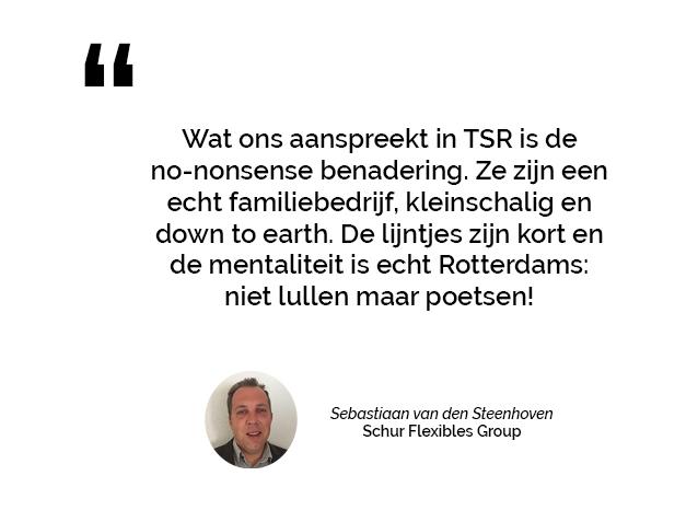 Schur Flexibles Group over de sterke samenwerking met Textiel Services Rijnmond