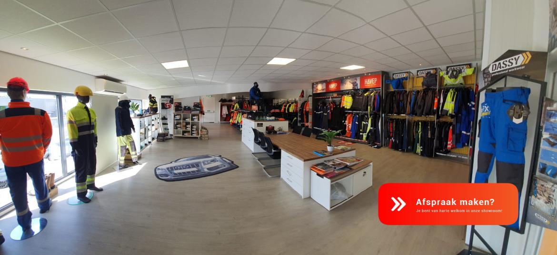 Showroom bezoeken van Textiel Services Rijnmond