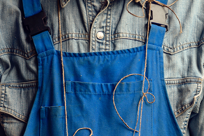 Vieze overalls wassen