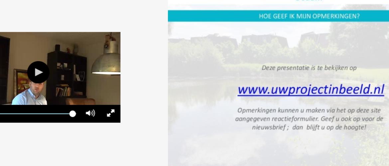 Concept ontwerp Boterdiep WZ in een webinar vertelt