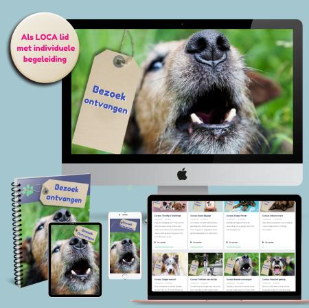 online training hond en bezoek ontvangen
