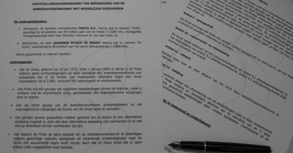 vaststellingsovereenkomst voorbeeldovereenkomst 2017