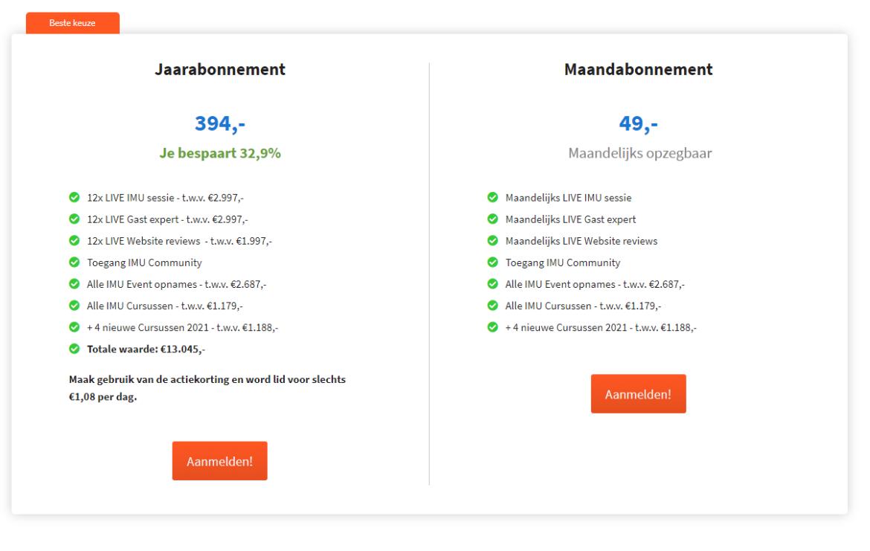 imu+ review en ervaringen kosten