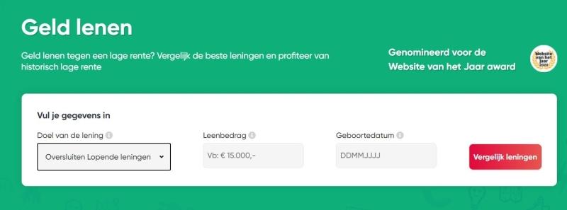 overstappen.nl andere lening afsluiten