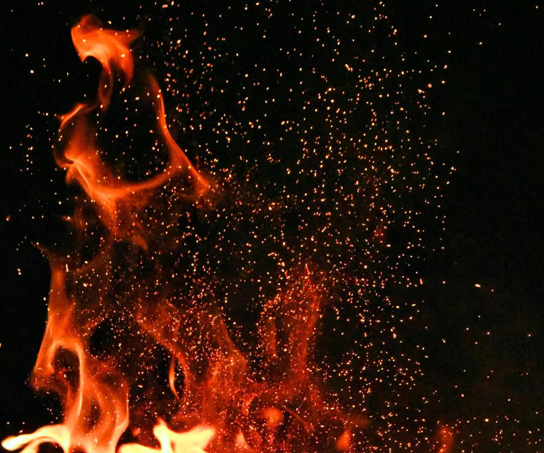 oplaaiend vuur