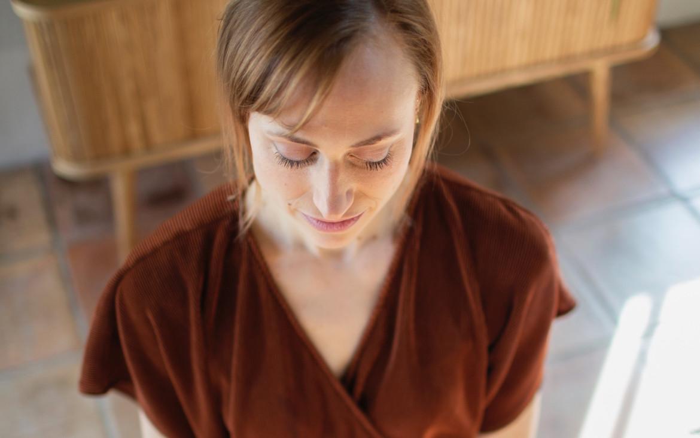 de dankbare staat van het mediteren