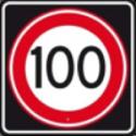 Auto theorie leren Verkeersbord maximum snelheid 100