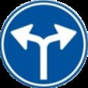 Verkeersbord verplichte rijrichting