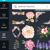 Canva waterverf bloemen