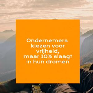 10% van ondernemers slagen in hun dromen