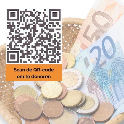 Steun ons QR-code donatie Voedselbank