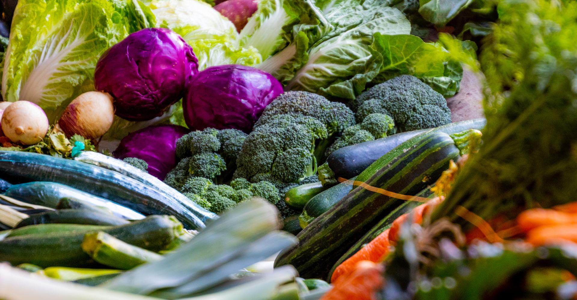 Foto met verse groenten
