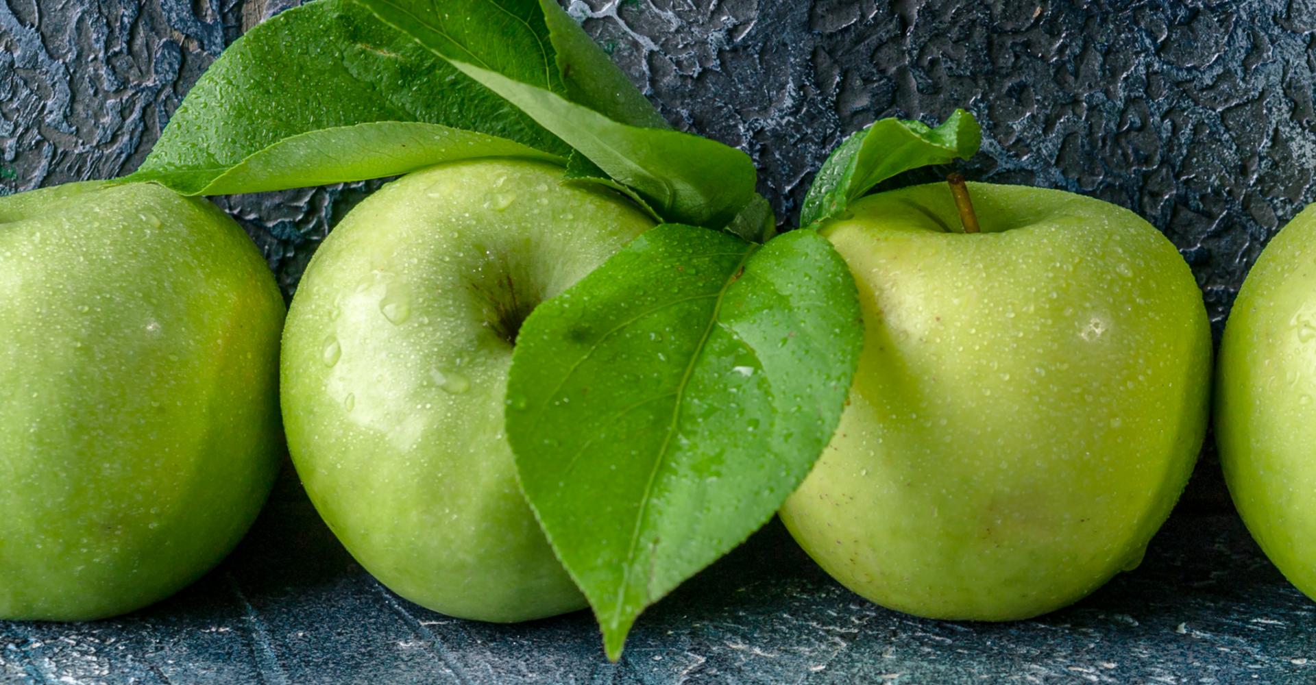 Foto met groene appels