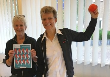 Cocky en Yvonne van Voetentraining