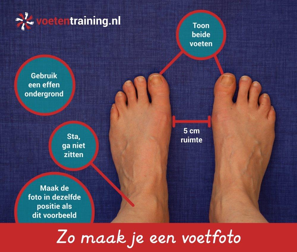 Voetfoto voetentraining