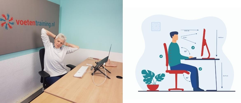Speciaal voor thuiswerkers: dit is de goede zithouding achter je bureau