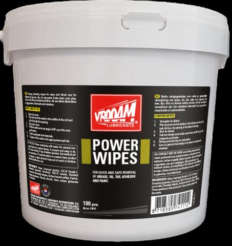 VROOAM Power Wipes 100 psc
