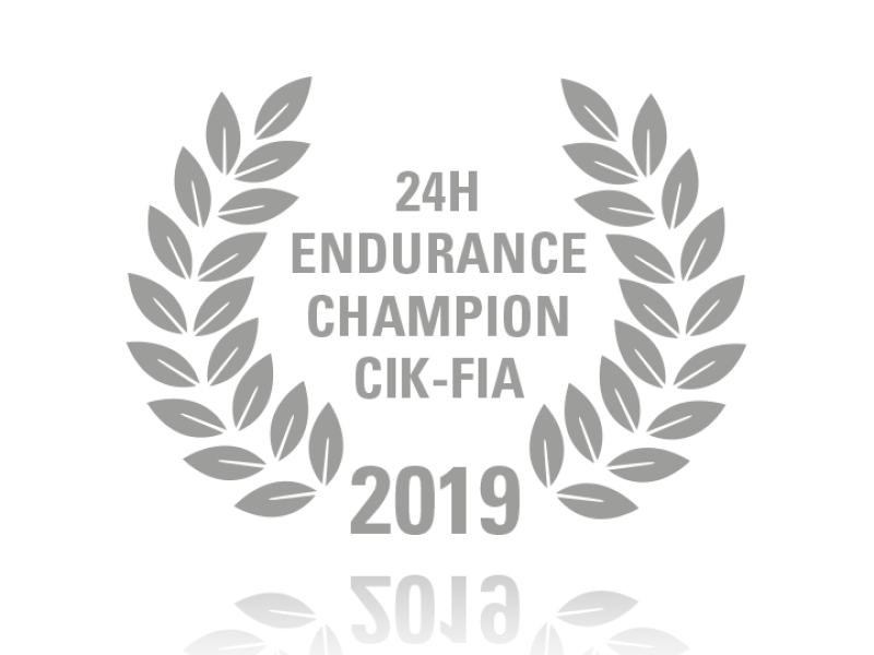 Laurel wreath of 24h Endurance Champion CIK-FIA 2019