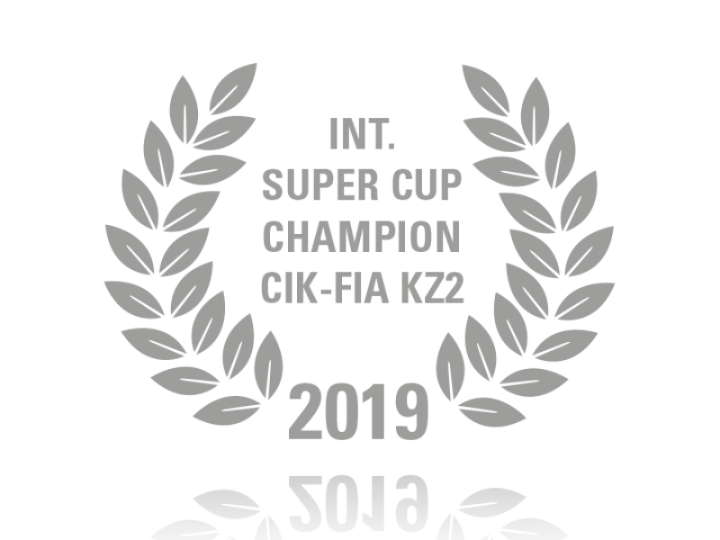 Laurel wreath of Int. Super Cup Champion CIK-FIA KZ2