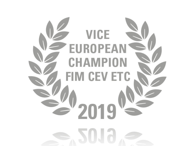 Laurel wreath of Vice European Champion FIM CEV ETC