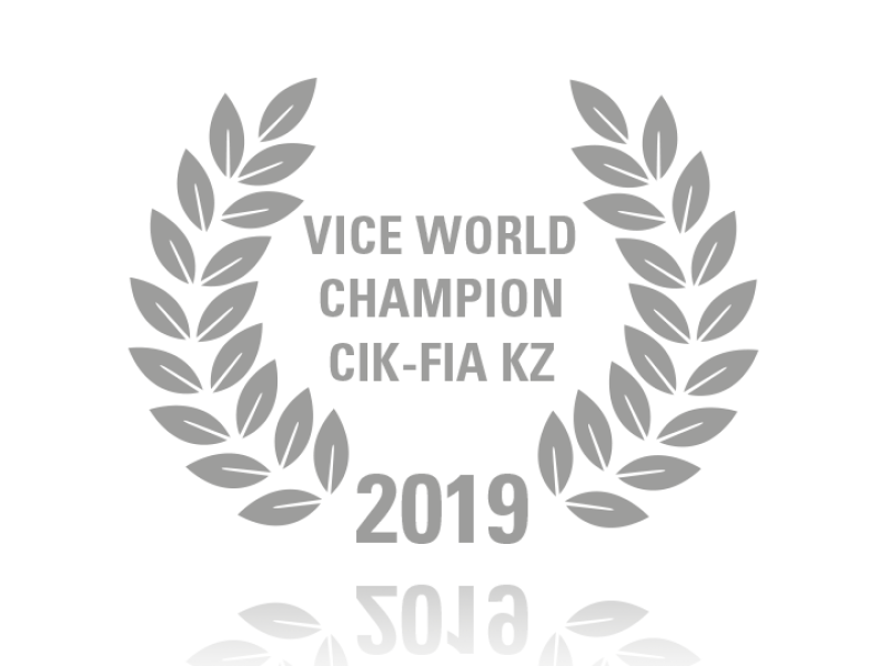 Laurel wreath of Vice World Champion CIK-FIA KZ