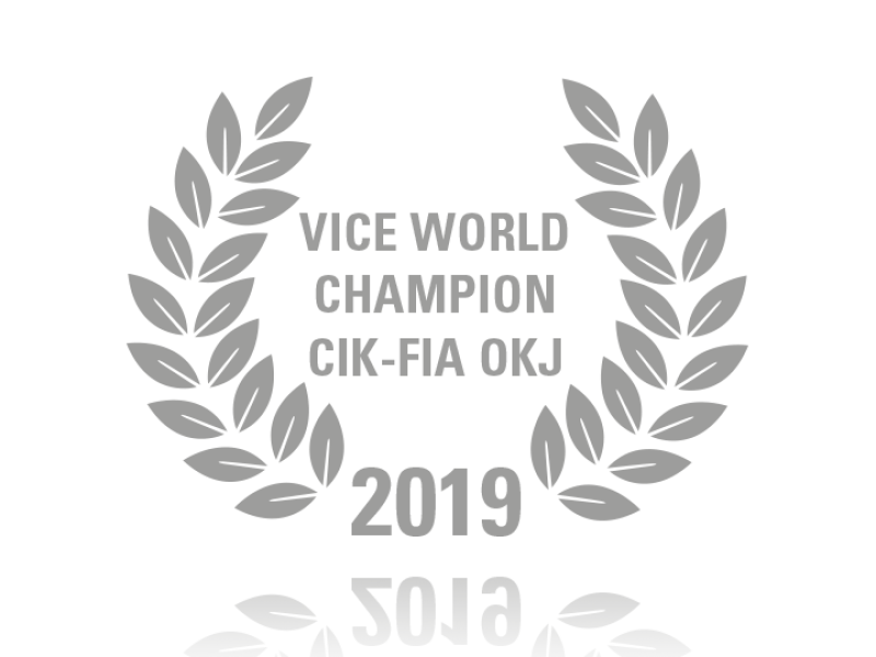 Laurel wreath of Vice World Champion CIK-FIA OKJ