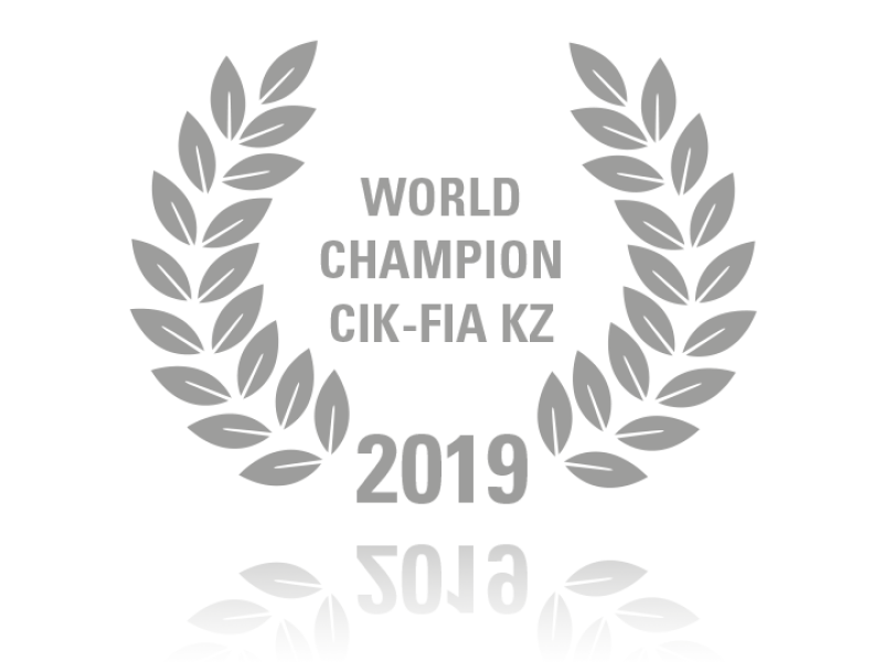 Laurel wreath of World Champion CIK-FIA KZ 2019