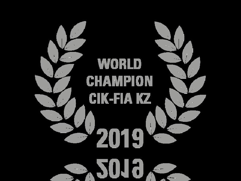 Laurel wreath of World Champion CIK-FIA KZ 2019