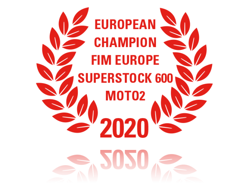 laurel wreath European Champion FIM Europe Superstock 600 Moto2