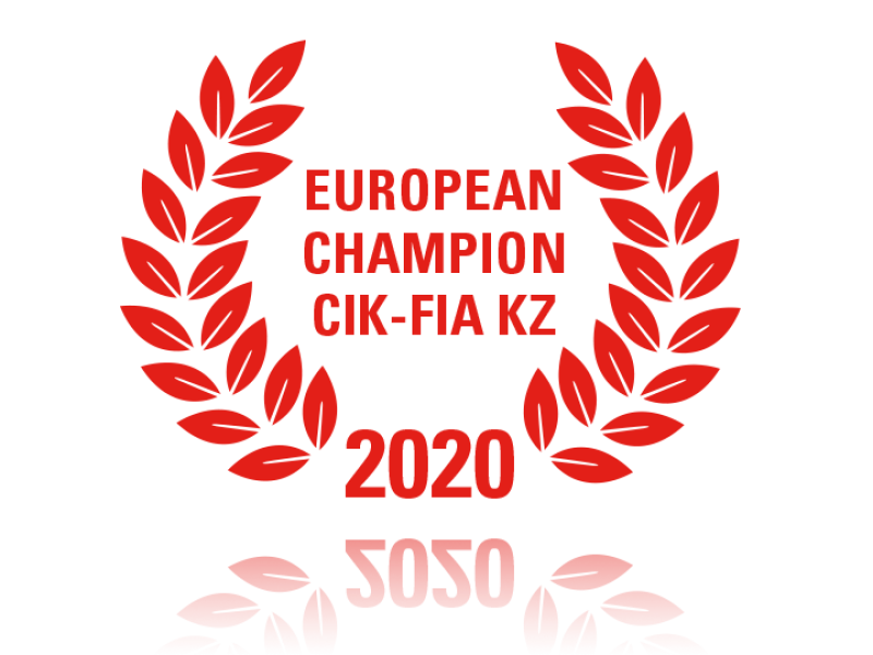 Laurel wreath of European Champion CIK-FIA KZ 2020