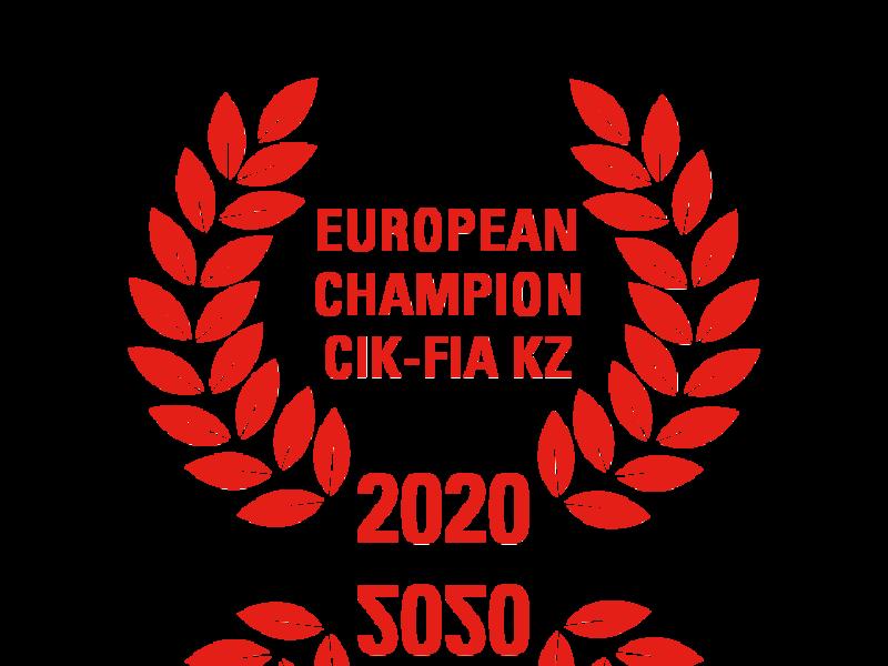Laurel wreath of European Champion CIK-FIA KZ 2020