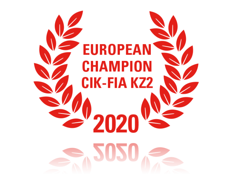 Laurel wreath of European Champion CIK-FIA KZ2 2020