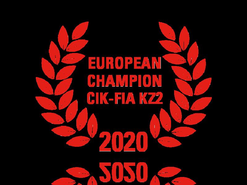 Laurel wreath of European Champion CIK-FIA KZ2 2020