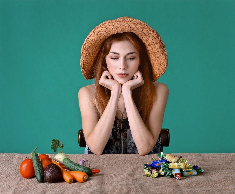 wat kies je? groente of snoep