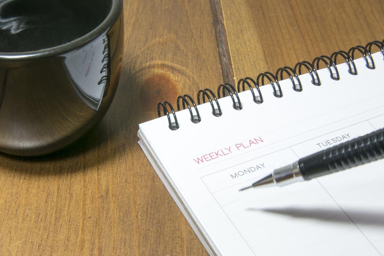 Maak een weekplanning, hou goede voornemens vol
