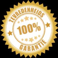 Teveredenheids garantie-log 100pct