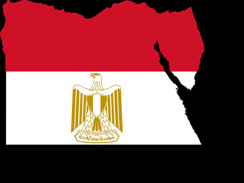 kaart-vlag-egypte