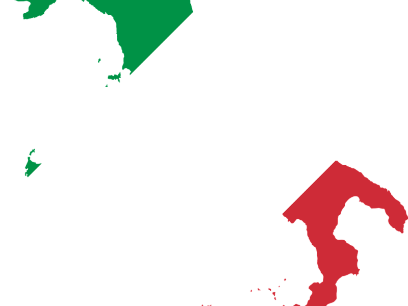 kaart-vlag-italie