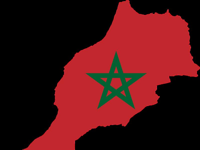 kaart-vlag-marokko