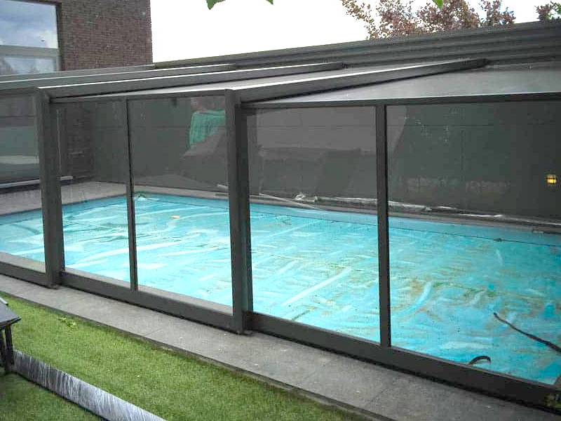 murale zwembad overkapping
