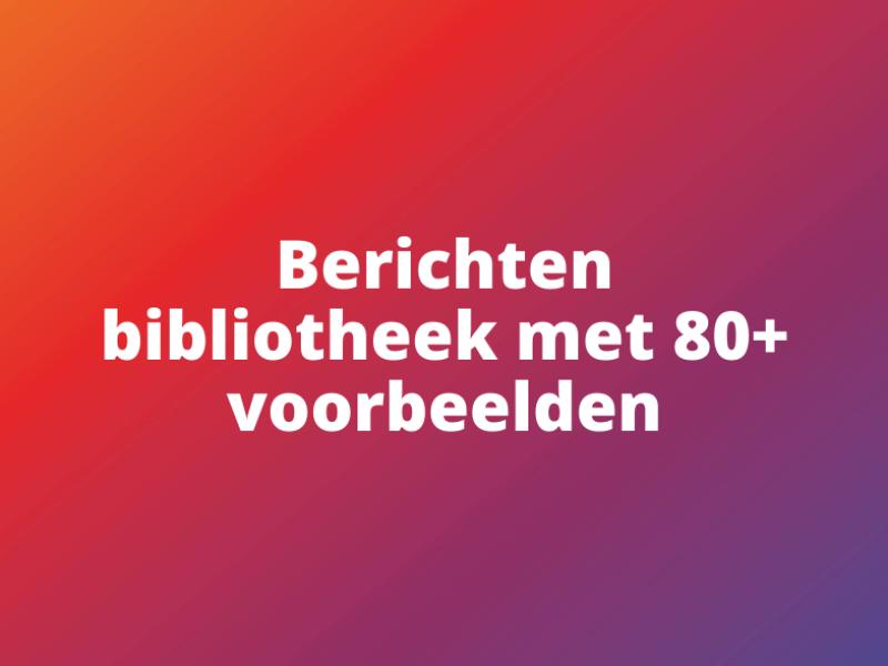 Community berichten bibliotheek