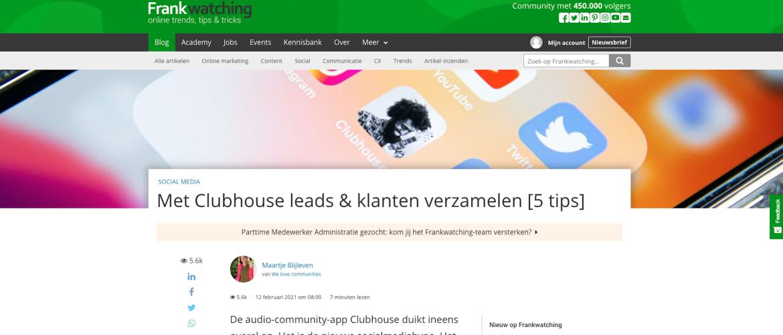 Met Clubhouse leads en klanten verzamelen [5 tips]