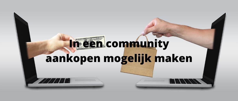 In een community aankopen mogelijk maken